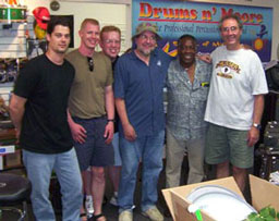 left to right: Brent King, Junior, Ron Hanson, Cheap Trick's Bun E. Carlos, The Legend Clyde Stubbelfield, Rand Moore